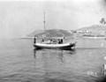Chris Mckean ex F.A.A. fishing off island Poros, Agean sea.