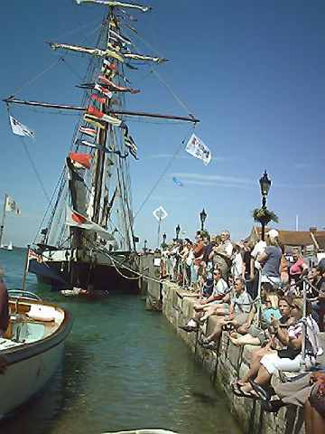 Old French ship.  Gaffers Race. Yarmouth I.W. 2 June 2007
