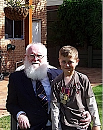 This was me and my Grandson Jack afterthe Anzac march on 2007. Well !!! I didn