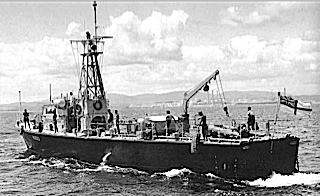 Thois was one of the ships Iwas on in Hong Kong in 1960. She was ramed and cut in two by the St. Brides Bay.