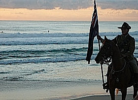 This was the Dawn Service on Anzac Morning at Currumbin TWEED COAST 2007