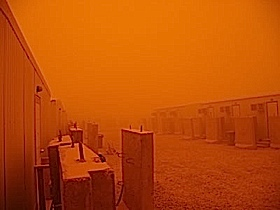 """Now this is what a """"Sand Storm Looks Like"""" in Camp Liberty.       and it"""