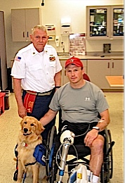 Severely injured veterans are getting canines as pets to help with their recovery.