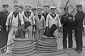 """It could only happen in the Royal Navy. A Captain with a good sense of """"HUMOUR"""" """"Defaulters for the ships dog""""."""