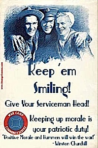 Girls remember what MR Churchill told you all to do!! Keep the sailors smiling!!
