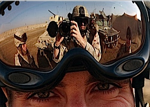 More reflection on Goggles in the desert.