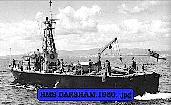 HMS DARSHAM IN COLOUR ON PATROL IN HONG KONG/CHINESE BORDER.