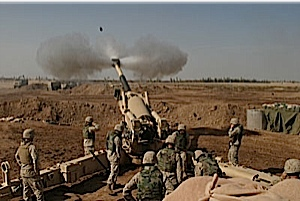 """SEE THE HOWITZER SHELL FLY. ARMY NEWS WILL BE RUNNING A COMPETITION OF """"SPOT THE SHELL"""", WINNER WILL GET AN ALL EXPENSES, TRIP TO RAF BENBECULLA FOR A FORTNIGHT NEXT WINTER."""
