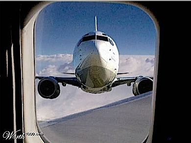 If you looked out of airoplane window and saw this !!  Would you 1. SCREAM 2.DROP DEAD with fright,3 RUN TO TOILET TO CANGE YOUR PANTS.