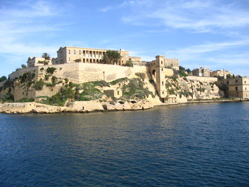 THIS IS THE NAVAL HOSPITAL IN MALTA.