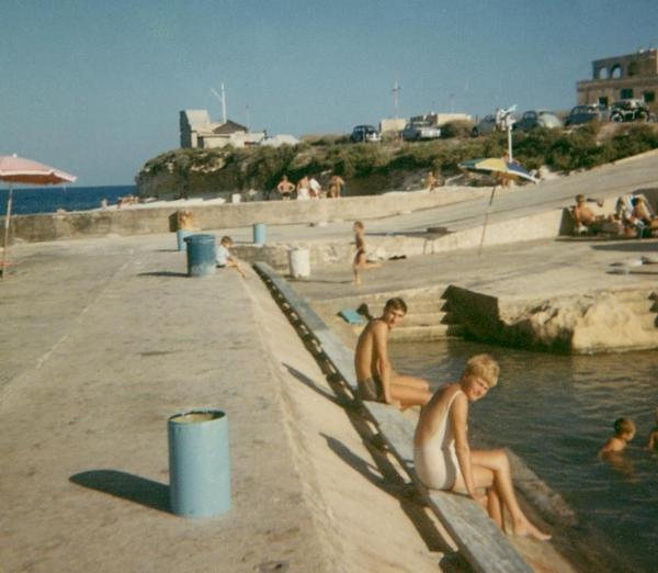 THIS IS KALAFRANA IN MALTA, WHERE MOST FAMILIES GO TO COOL DOWN WHEN THE WEATHER GETS EXTREMELY HOT.
