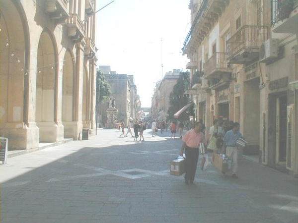 THIS IS REPUBLIC STREET IN MALTA, AFTER SEVEN O