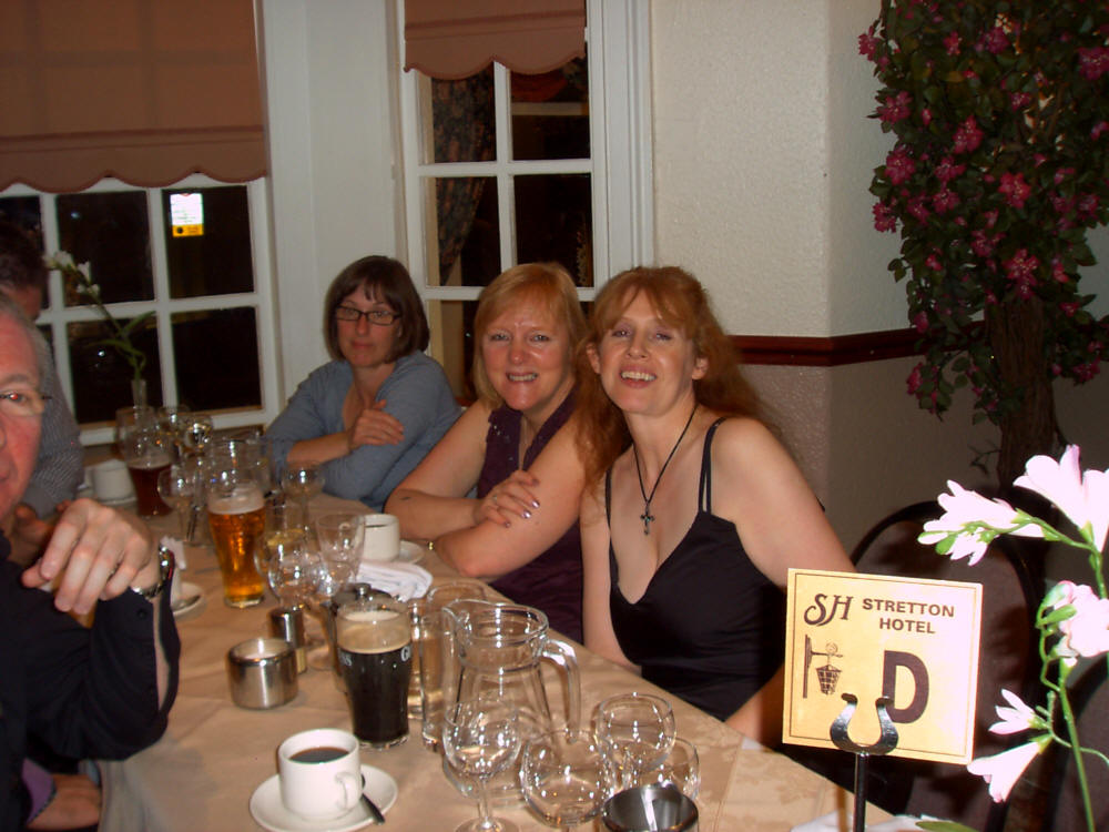 SOME OF THE GUESTS OF MANY OF THE DIFFERENT  OLD CREW MEMBERS FROM DIFFERENT COMMISSIONS AT BLACKPOOL 2008, ENJOYING THEMSELVES WITH A BEAVY OR TWO.