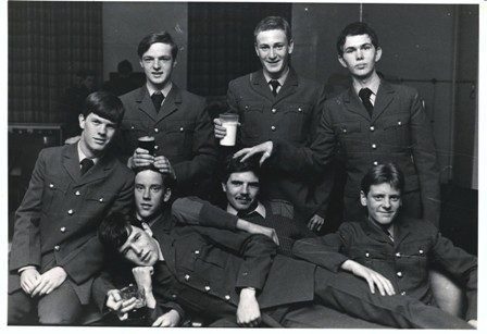 Joining date 12 August 1975 - Me and some of the entry having a coke in the NAAFI. The only person I recognise is me, and only because my mum pointed me out on the far left.
