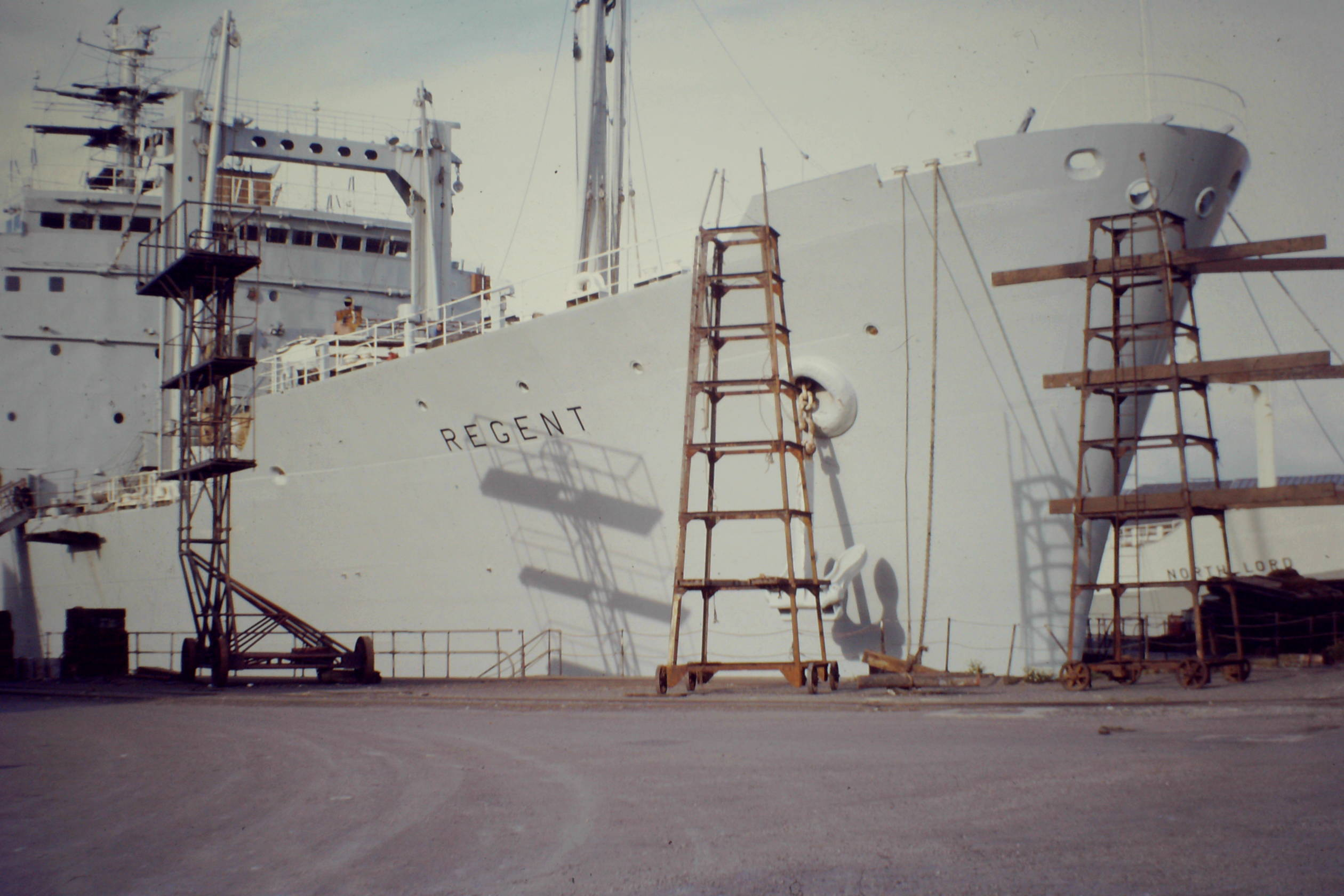 RFA REGENT in dry dock Falmouth