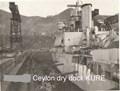 HMS CEYLON DRY DOCK KURE JAPAN